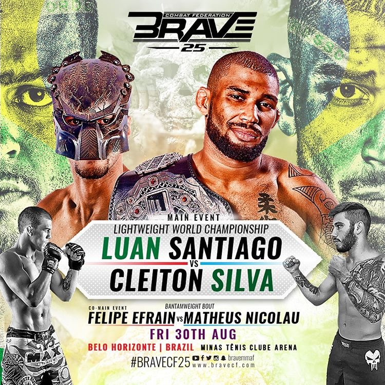 "Cleiton ""Predator"" threatens BRAVE CF champ Luan ""Miau"": 'Don't run, I'm going to hurt you' -"