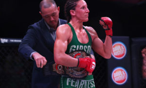 Bellator 145 pound champion Julia Budd wants Cris Cyborg to sign for them - Julia Budd