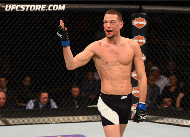 Watch: Nate Diaz reacts to his win against Anthony Pettis; makes strong case for Masvidal fight - Nate Diaz