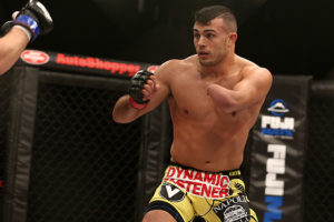Nick Newell reacts to his first round submission win on Bellator debut - Nick Newell