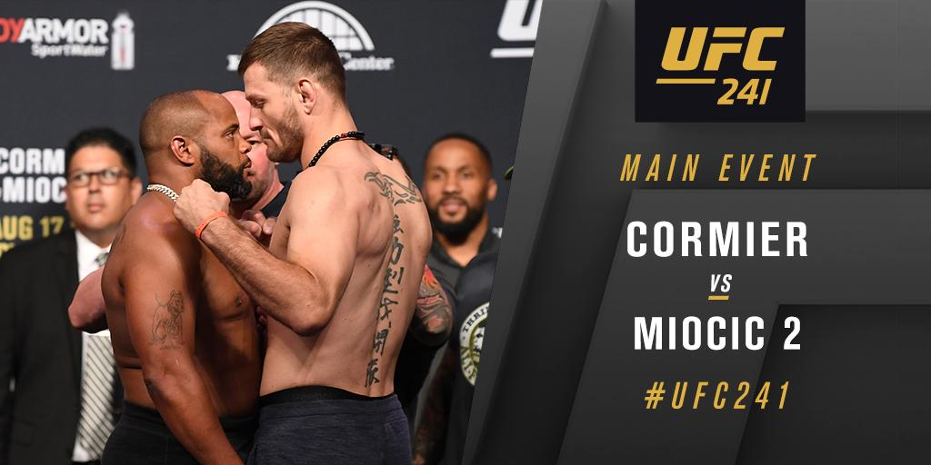 UFC 241 Results - Stipe Miocic TKO's Daniel Cromier in the 4th to Regain his Heavyweight Title Belt -