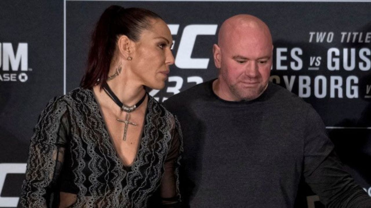 Watch: Dana White loses his cool; spits fire at Cris Cyborg! - Cyborg