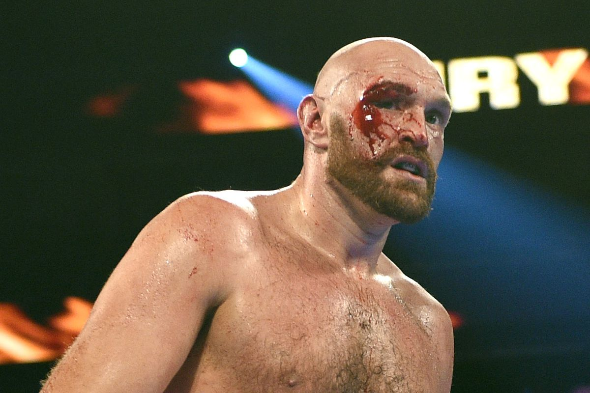 Tyson Fury defeats Otto Wallin after suffering a nasty cut during the fight - Tyson