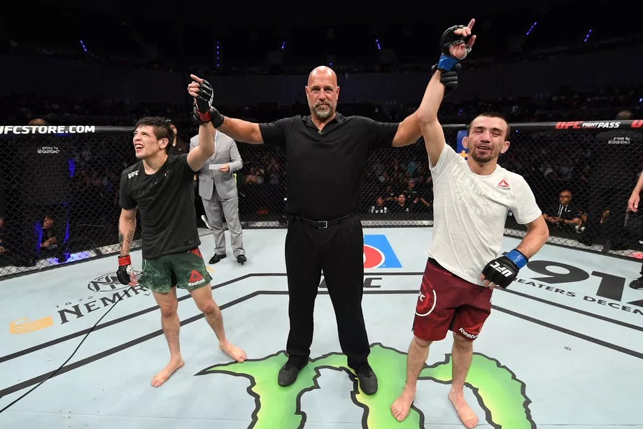 UFC Fight Night 159 Results - Brandon Moreno Vs. Askar Askarov Resulted in a Split Draw After 3 Rounds of Action -