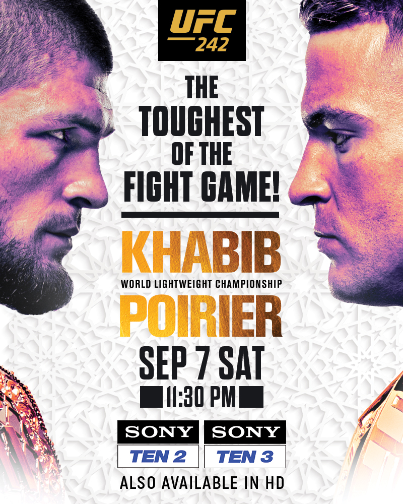 Watch UFC 242 featuring Khabib Nurmagomedov and Dustin Poirier -