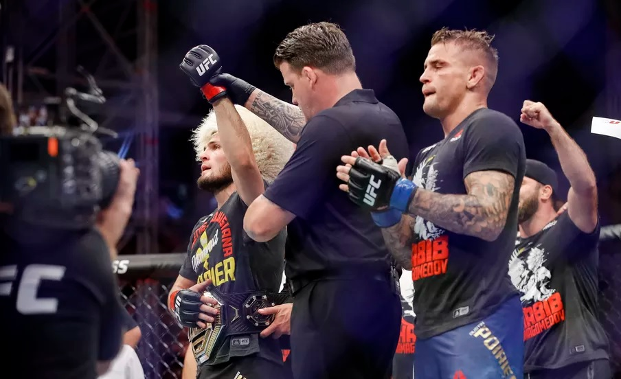 UFC 242 Results - Khabib Nurmagomedov Unifies Lightweight Title with His Third Round Submission of Dustin Poirier -