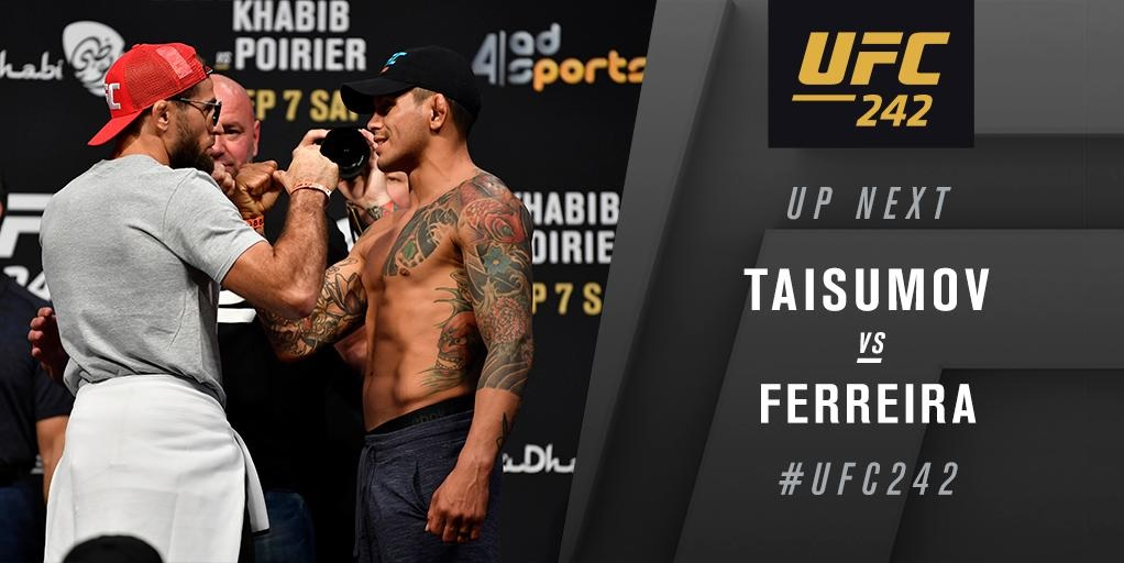 UFC 242 Results - Diego Ferreira Makes a Huge Statement with His Dominant Performance Over Mairbek Taisumov -