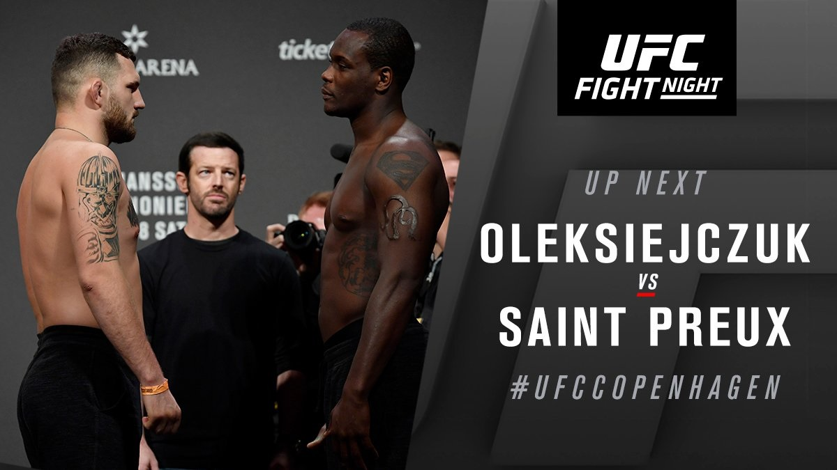 UFC Fight Night 160 Results - OSP Forces Michal Oleksiejczuk to Tap Out with his Signature Von Flue Choke -