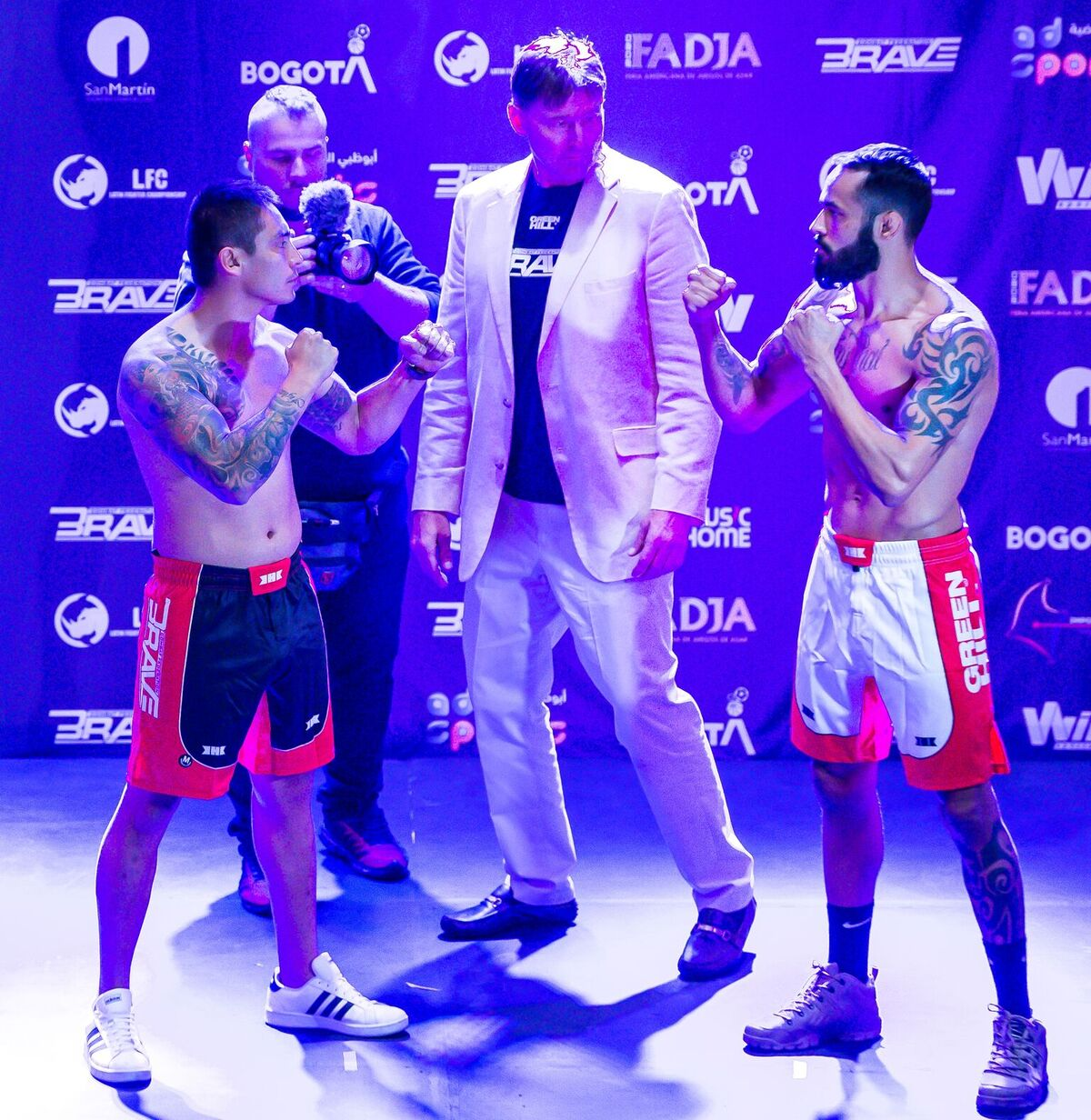 BRAVE 26 fighters light up Colombian crowd at ceremonial weigh-ins -