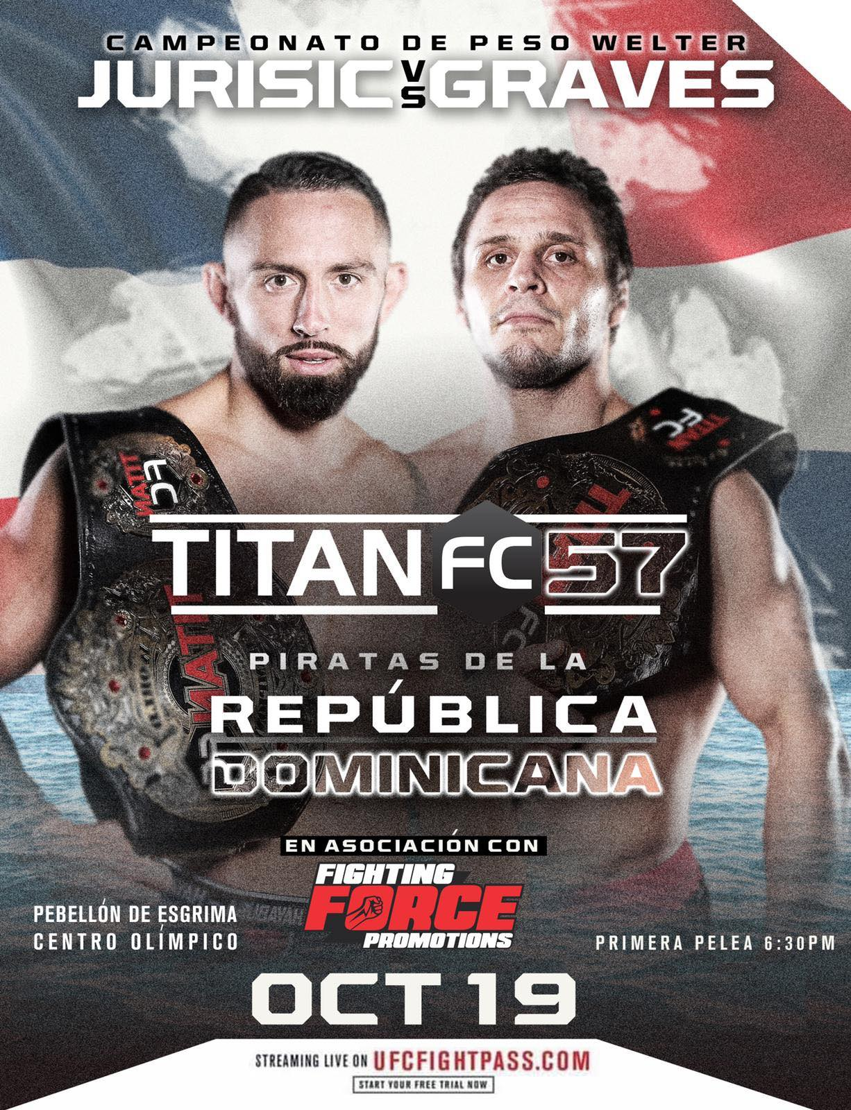Undisputed welterweight champion to be declared in the Dominican Republic at Titan FC 57 -