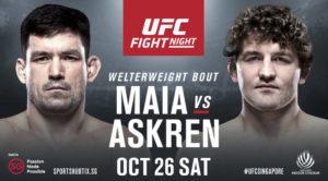 Demian Maia vs Ben Askren official poster for UFC Singapore drops! - Ben Askren