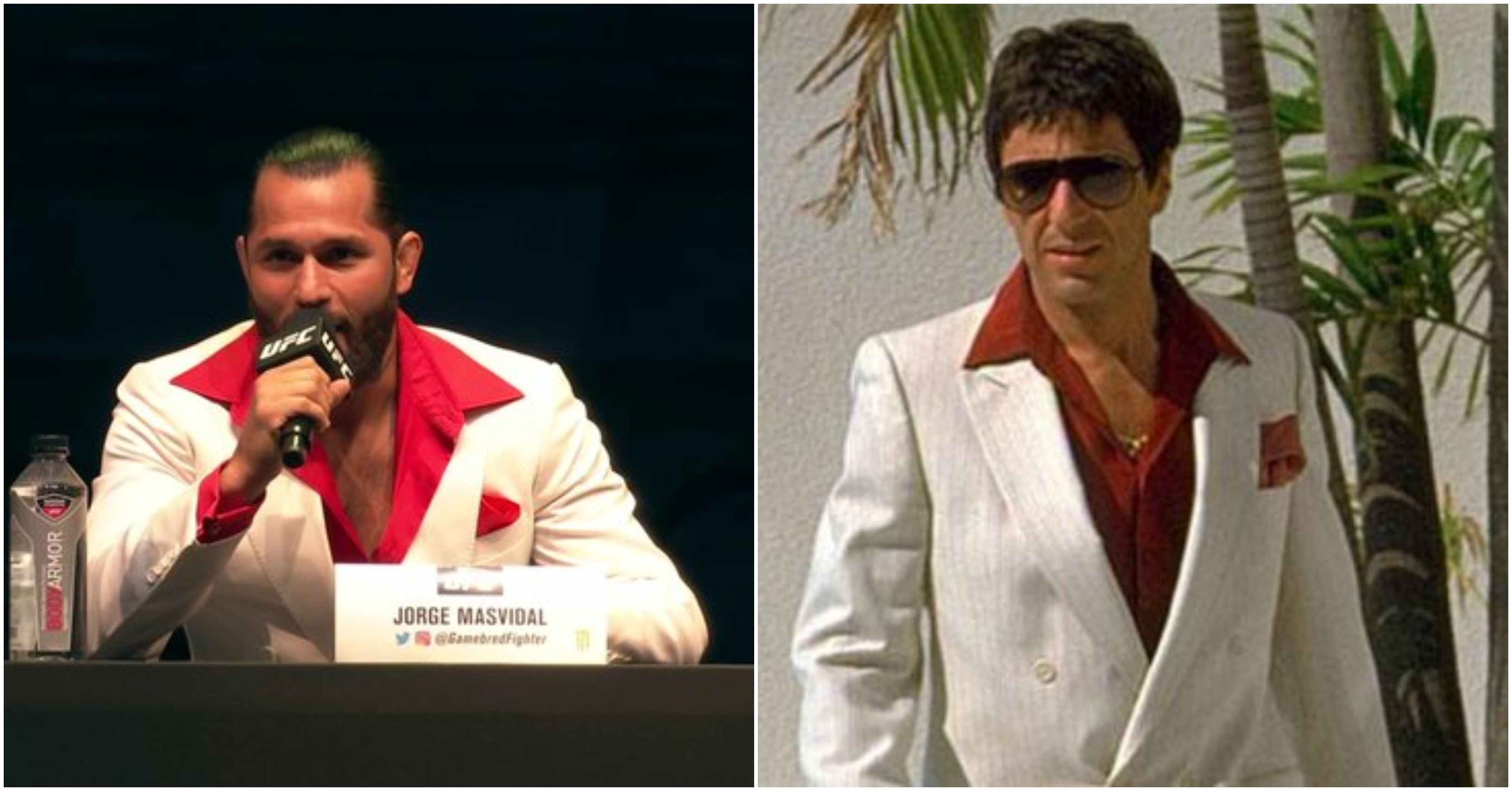Twitter goes crazy as Jorge Masvidal does his best Scarface impression - Masvidal