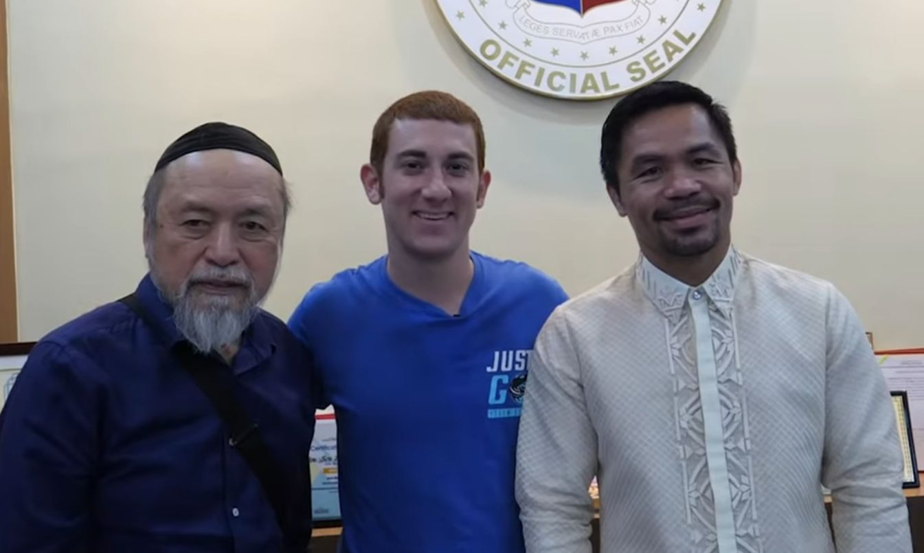 Watch: When famous travel vlogger Drew Binski met Manny Pacquiao! - Drew