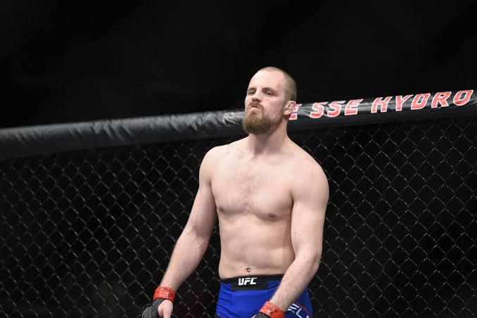 UFC: Gunnar Nelson reacts after his UFC Copenhagen loss to Gilbert Burns - Nelson