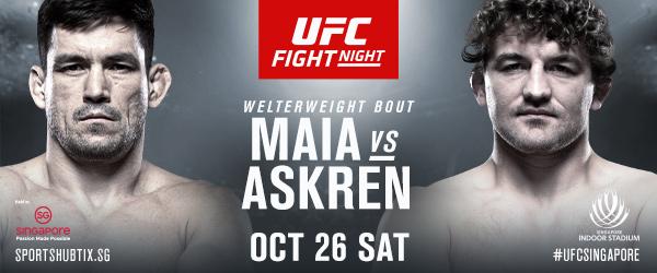 UFC Fight Night 162 - Demian Maia vs Ben Askren - UFC Singapore