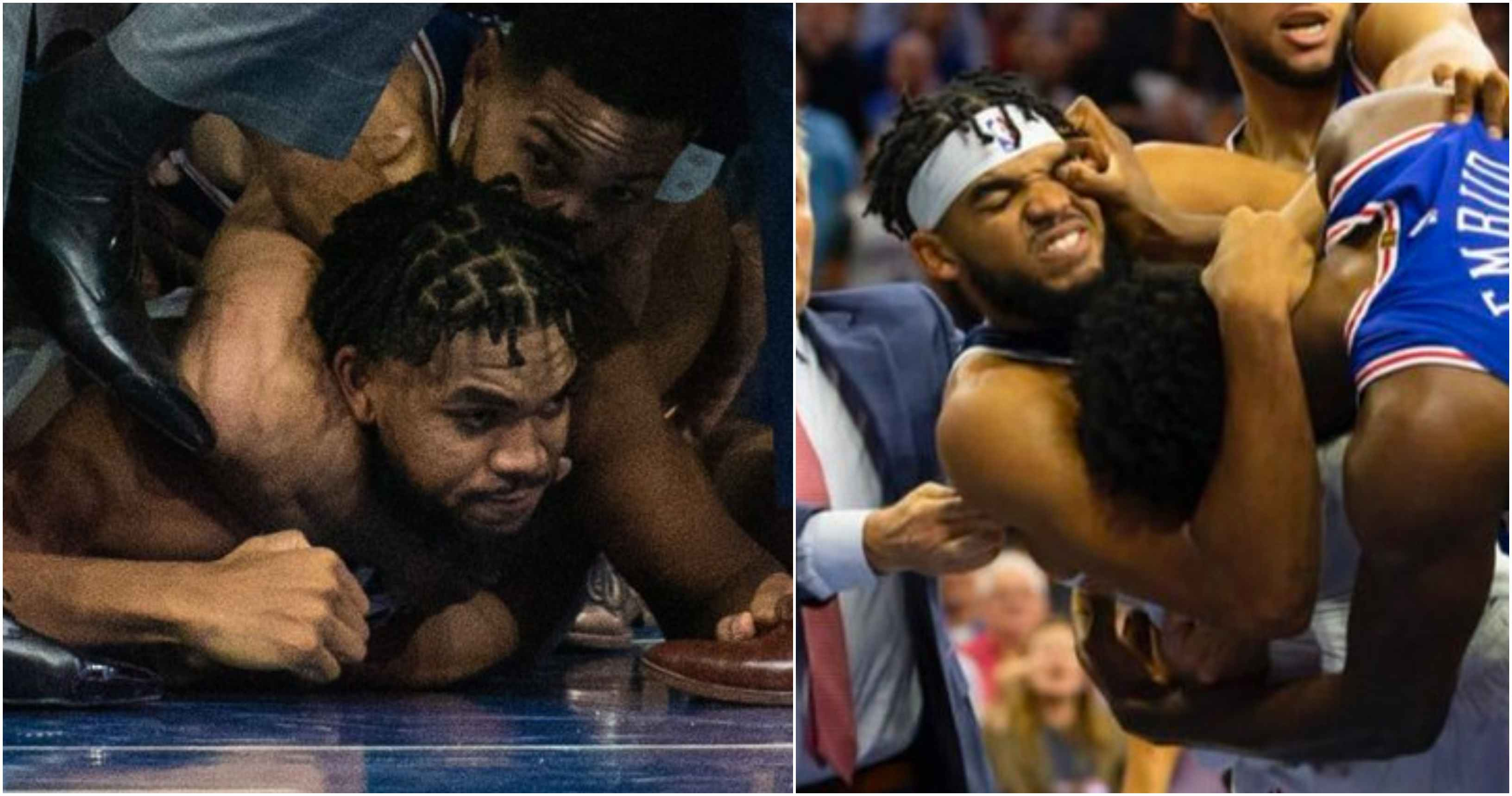 NBA player chokes out his opponent with Rear Naked Choke inside the court - NBA