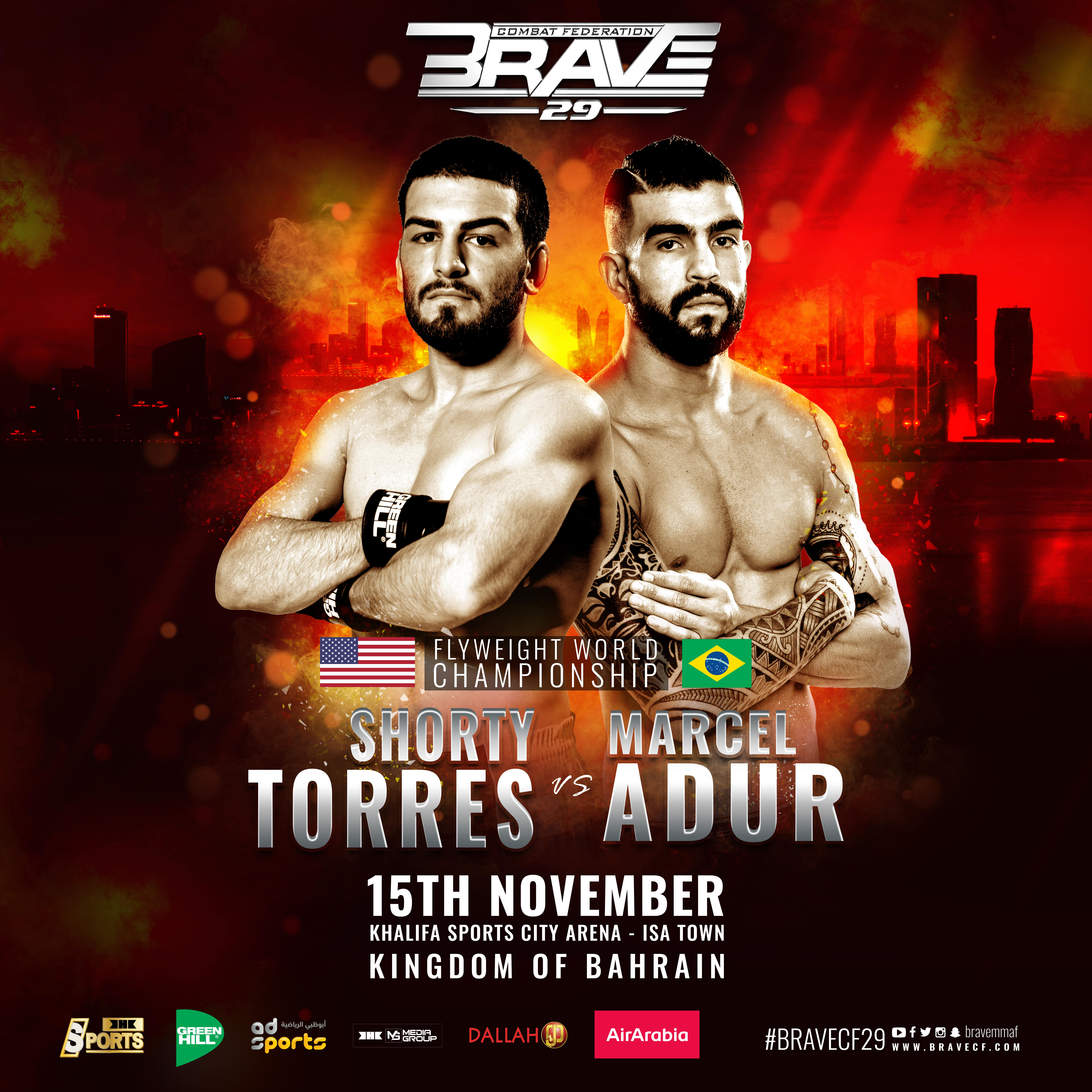 BRAVE CF 29: 'Shorty' Torres faces Marcel Adur for inaugural Flyweight title - BraveFC