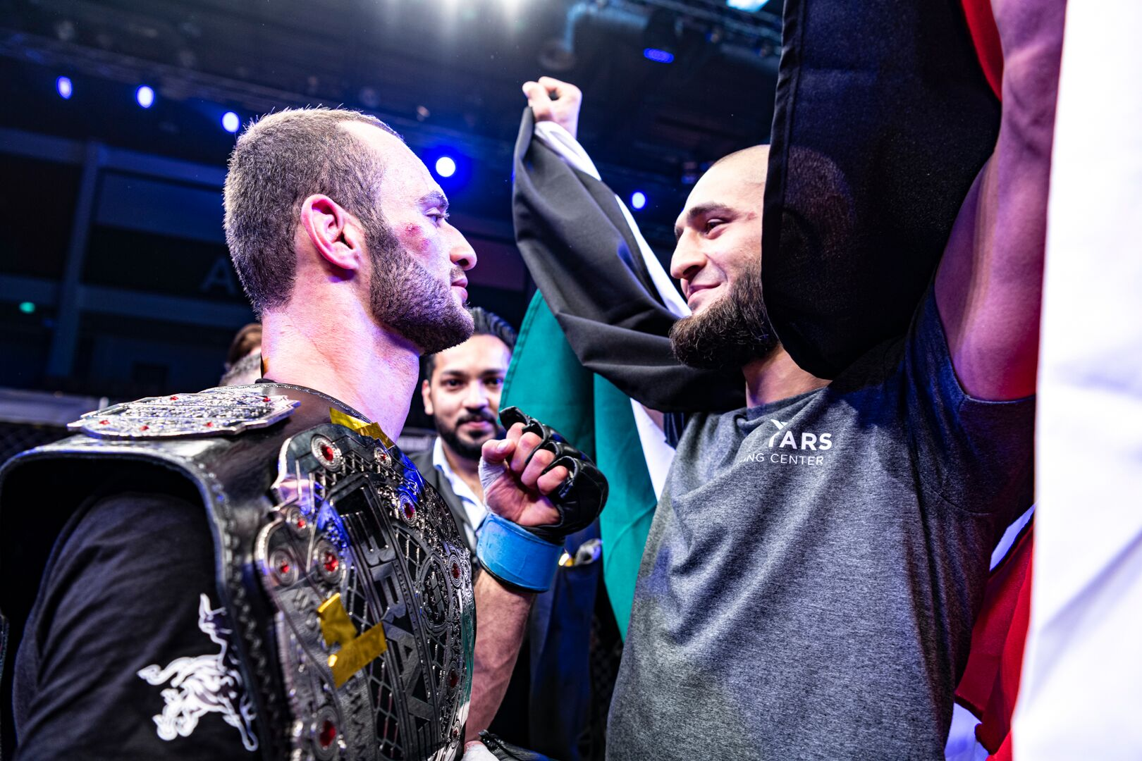 After BRAVE CF 27 win,  Chimaev barges in the cage to confront Al-Selawe - Abu Dhabi
