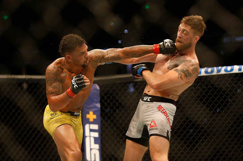 UFC Fight Night 161 Results - Erik Anders Rallies Past Gerald Meerschaert in a Closely Contested Fight -