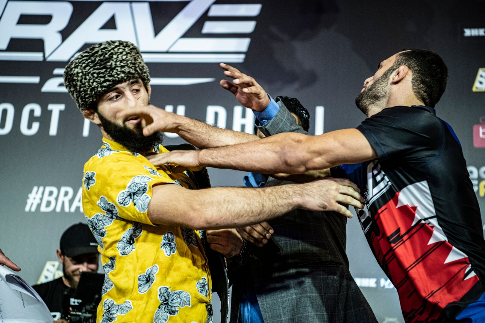 Abdoul vs Jarrah rivalry heats up, brawl erupts at BRAVE CF 27 weigh-ins - Abu Dhabi