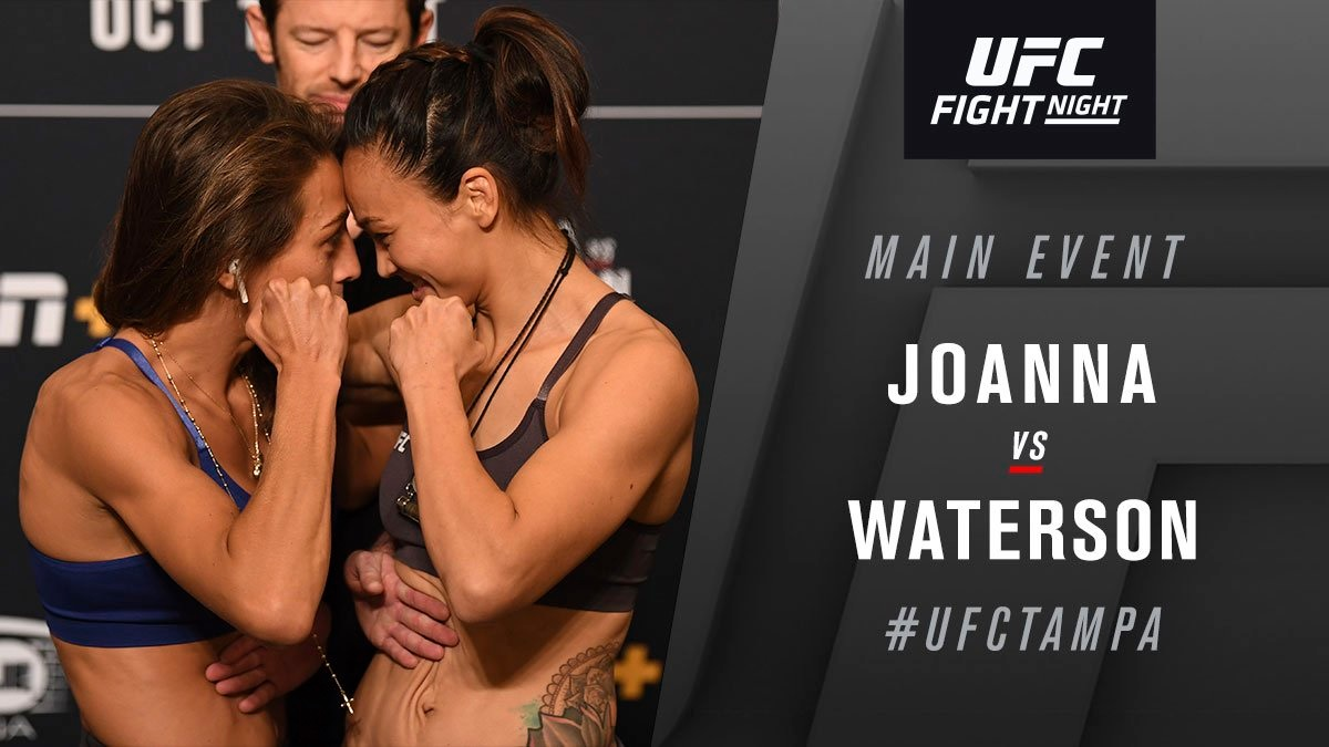 UFC Fight Night 161 'Jedrzejczyk vs. Waterson' - Play by Play Updates & LIVE Results -