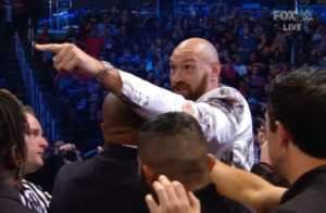 Tyson Fury shows up at WWE Smackdown and confronts Braun Strowman - Fury