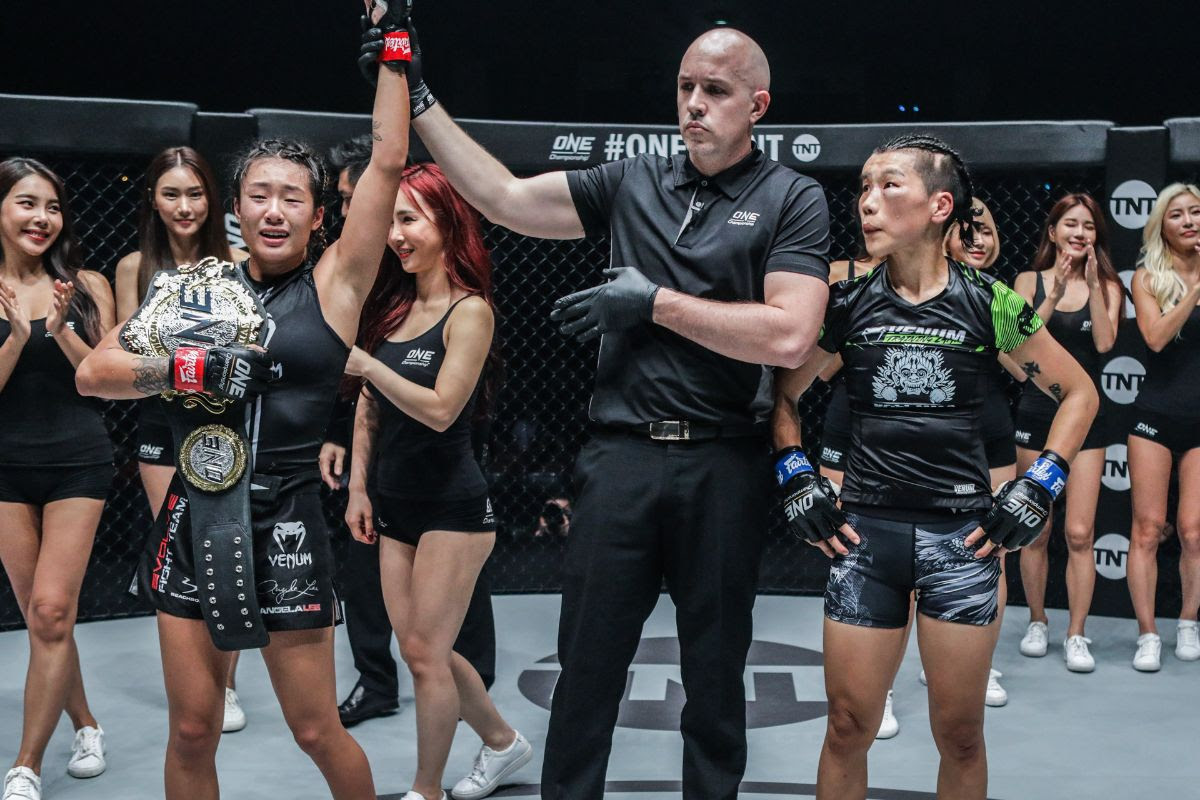 ANGELA LEE RETAINS ONE WOMEN'S ATOMWEIGHT WORLD CHAMPIONSHIP WITH SUBMISSION WIN OVER XIONG JING NAN - ONE Championship