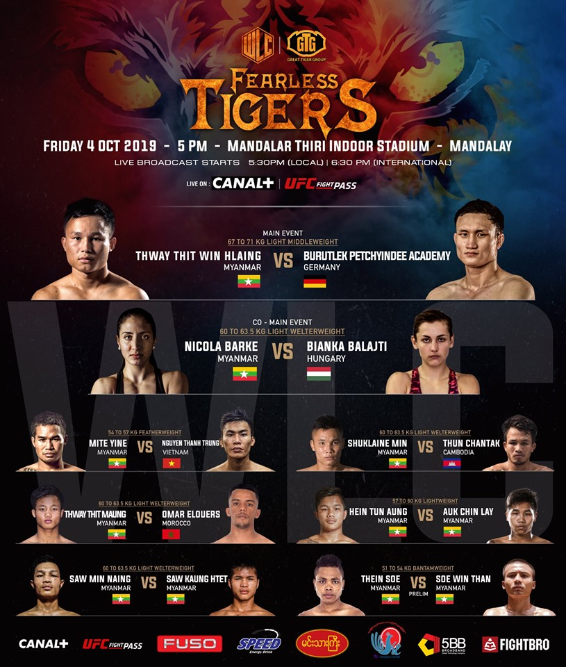 WLC: FEARLESS TIGERS comes to UFC Fight Pass  -