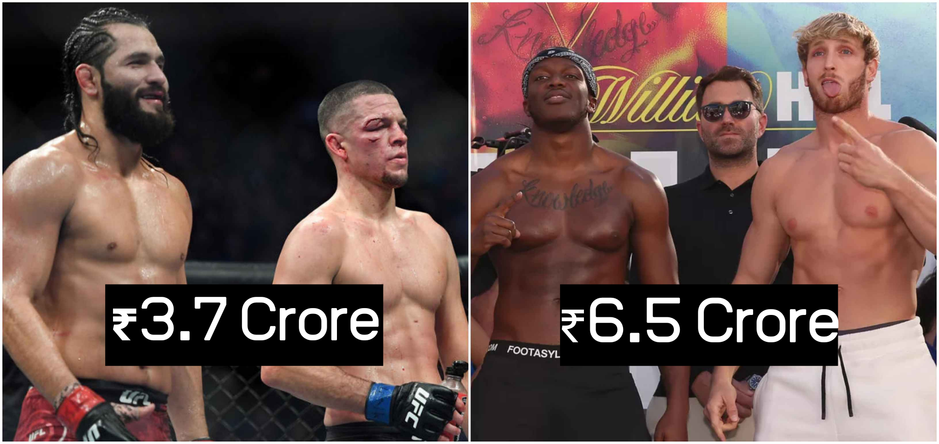 KSI and Logan Paul to make $400K more for their fight than Diaz and Masvidal made at UFC 244 - KSI