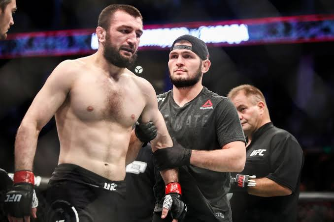 UFC: Khabib reacts to his cousin brother's submission loss at UFC Moscow - Khabib