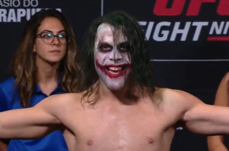 Watch: Markus Perez imitates Heath Ledger's Joker brilliantly at UFC Sao Paulo weigh-ins - Perez