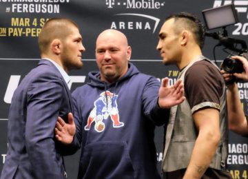 Khabib Nurmagomedov and Tony Ferguson