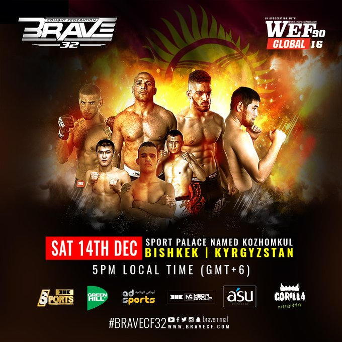 BRAVE CF to make Kyrgyzstan debut with Hayder Hassan debuting against Carl Booth -