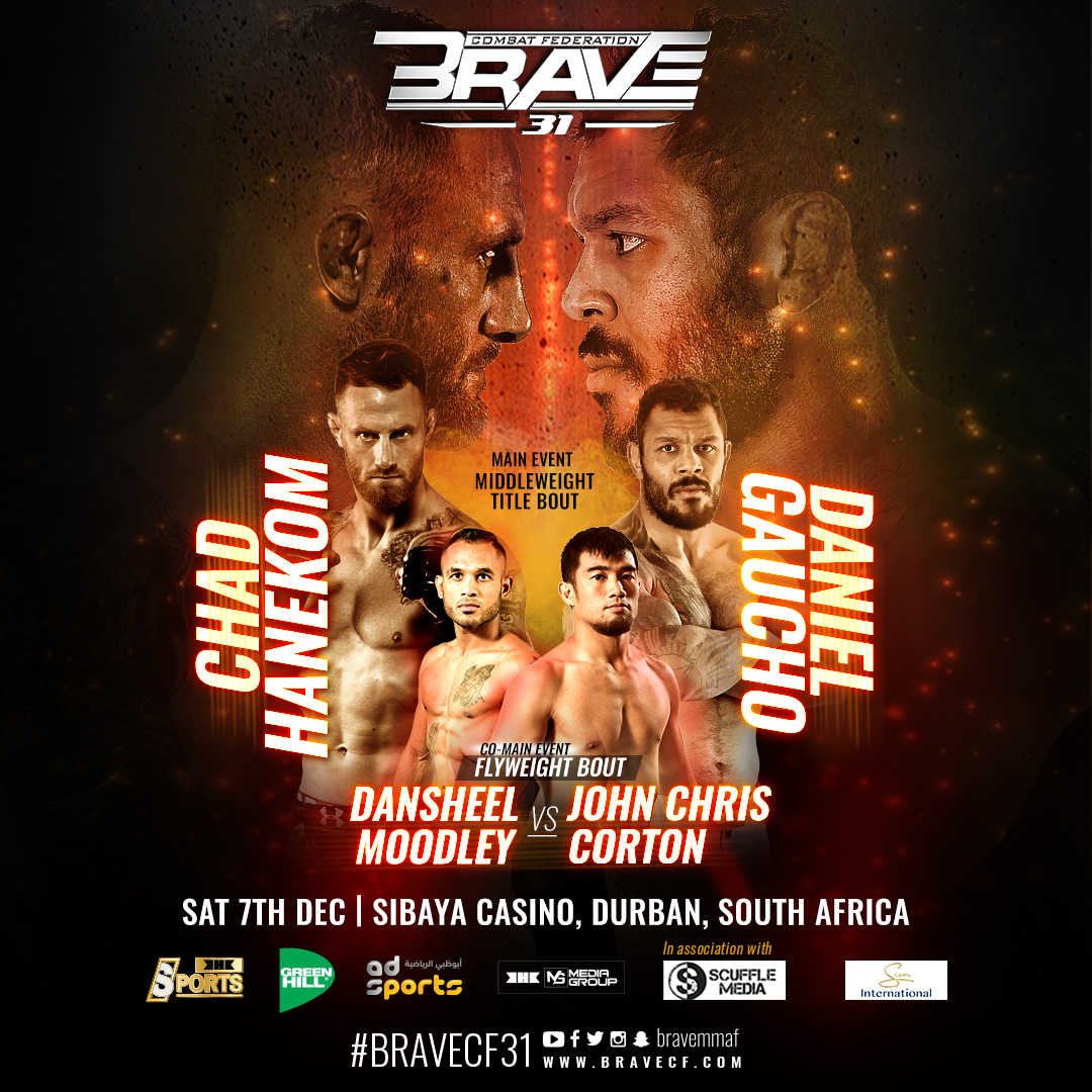 BRAVE CF comes back to South Africa with blockbuster inaugural title fight - Brave