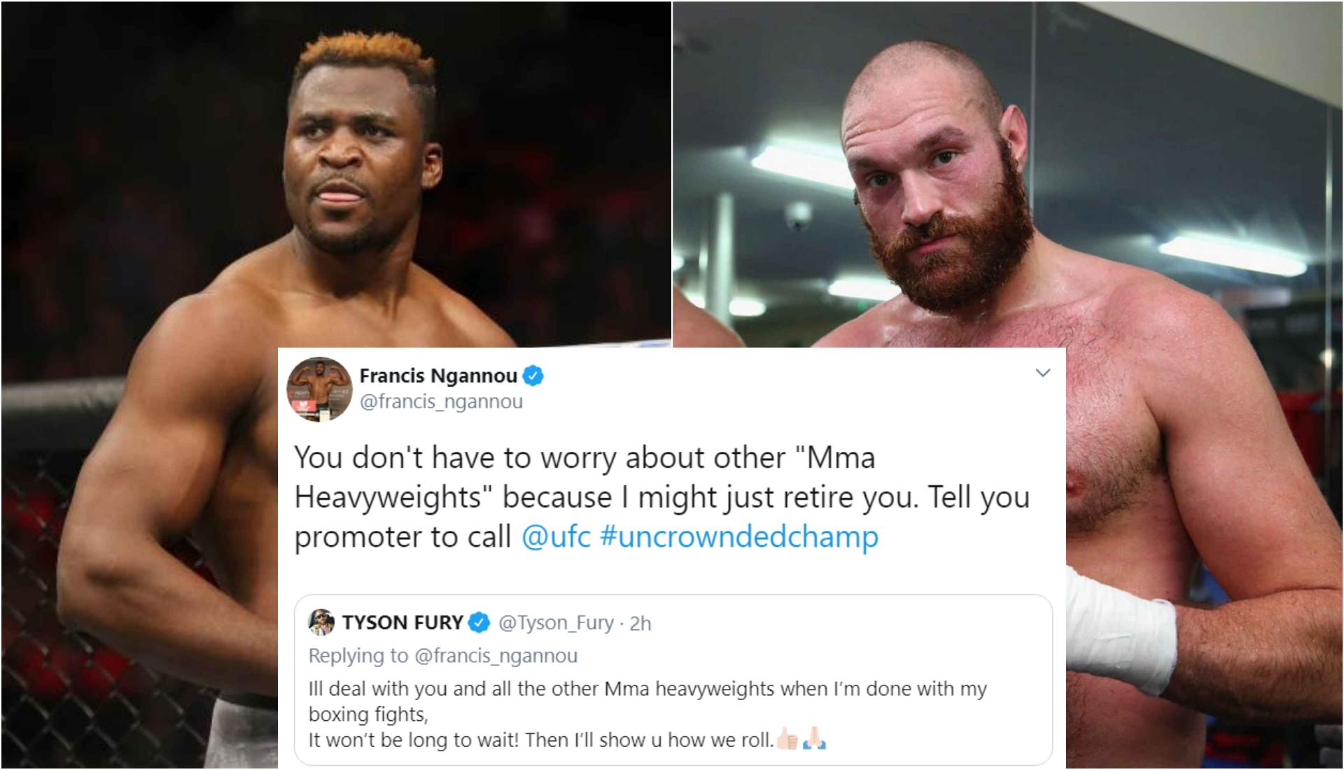 Francis Ngannou says he might retire Tyson Fury - Ngannou