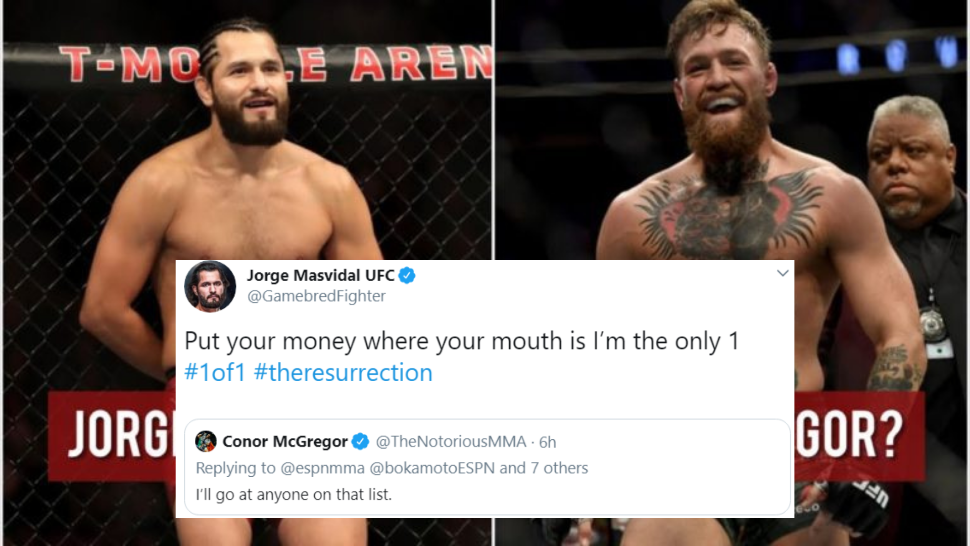 Jorge Masvidal calls out Conor McGregor: Put your money where your mouth is! - Masvidal
