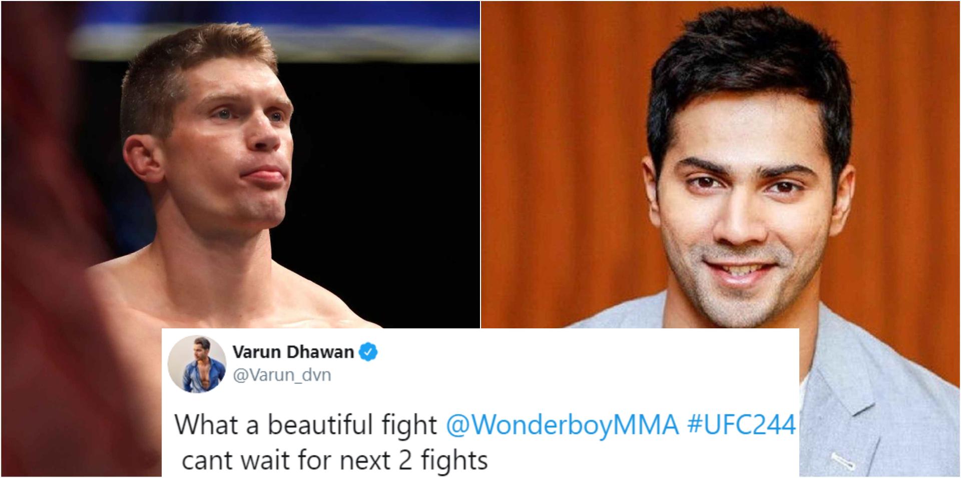 Stephen Thompson replies to Varun Dhawan congratulating him on his UFC 244 FOTN performance - UFC