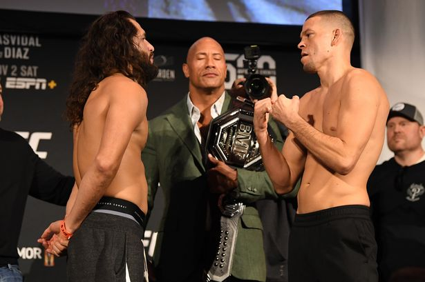 Nate Diaz on the Rock: 'With all due respect, he can get it too!' - Nate Diaz