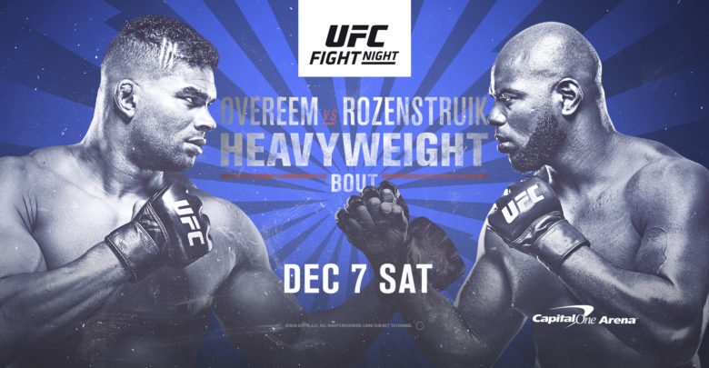 Watch UFC Fight Night featuring Alistair Overeem vs Jairzinho Rozenstruik - UFC DC