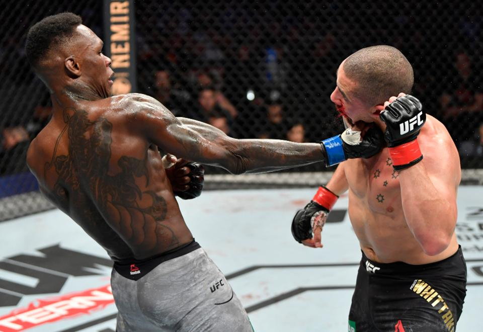 Watch: Israel Adesanya posts video of him visualizing the exact punch he knocked Robert Whittaker out with! - Adesanya