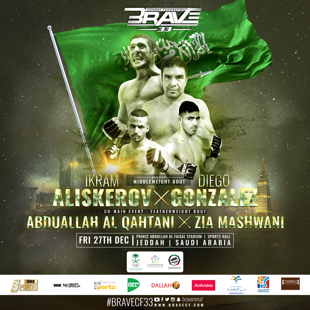 BRAVE CF announces a truly global fight card for Saudi Arabia return - BRAVE