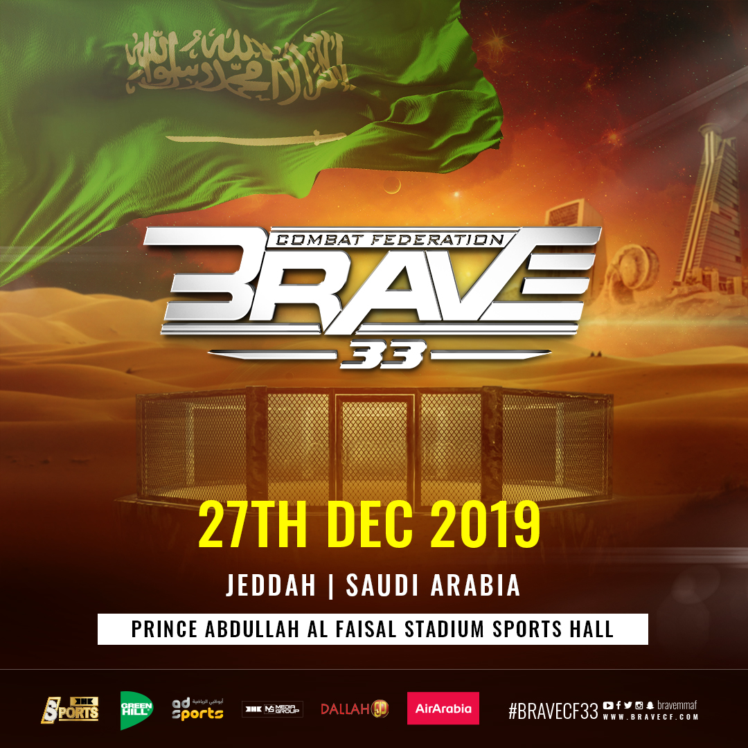 BRAVE CF to return to Saudi Arabia for end of the year extravaganza - BRAVE CF 33