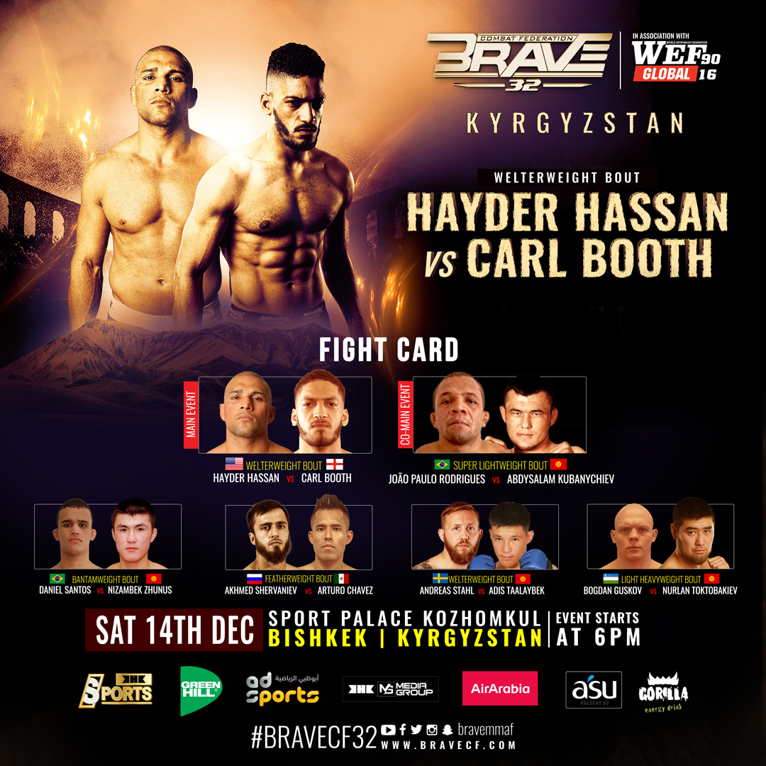 Hayder Hassan excited for Kyrgyzstan and 'good scrap' with Carl Booth at BRAVE CF 32 - BRAVE CF 32