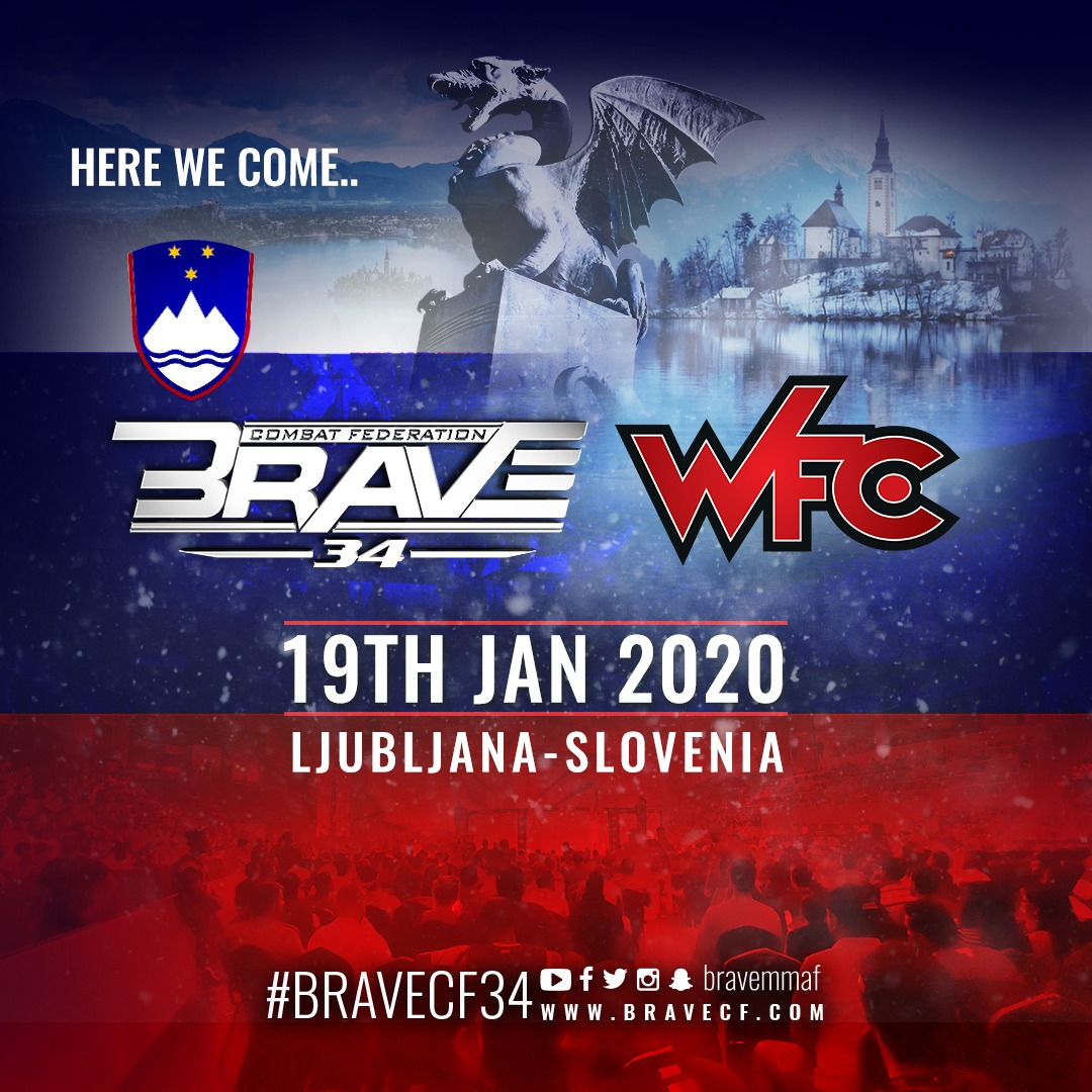 BRAVE CF to kick off 2020 with Slovenia debut in partnership with WFC - BRAVE CF