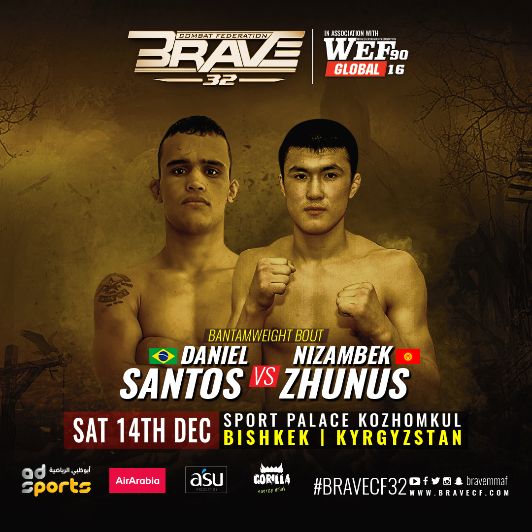 BRAVE CF to increase MMA awareness in partnership with Kyrgyzstan's WEF Global - BRAVE CF MMA