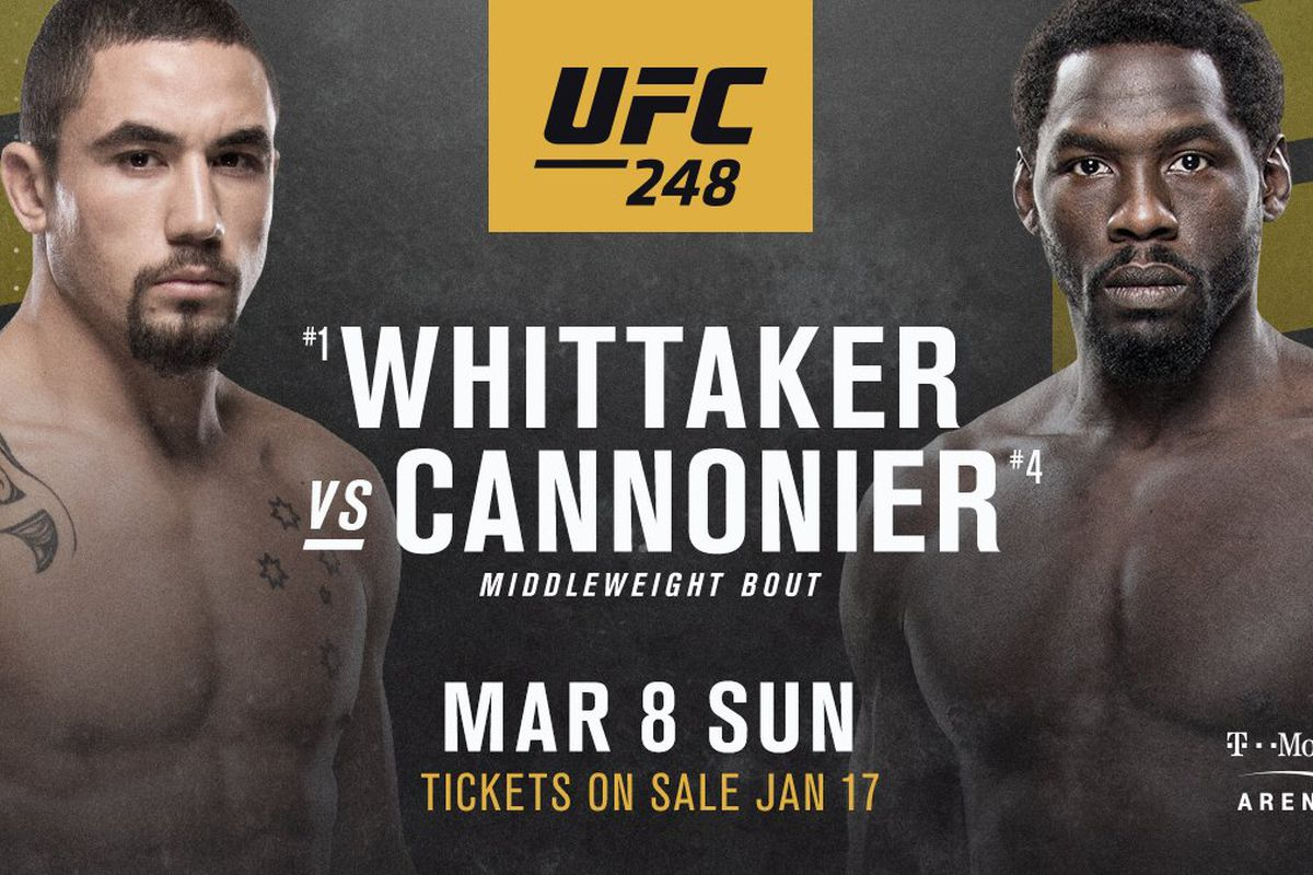 Middleweight fireworks: Robert Whittaker vs Jared Cannonier confirmed for UFC 248 - Jared