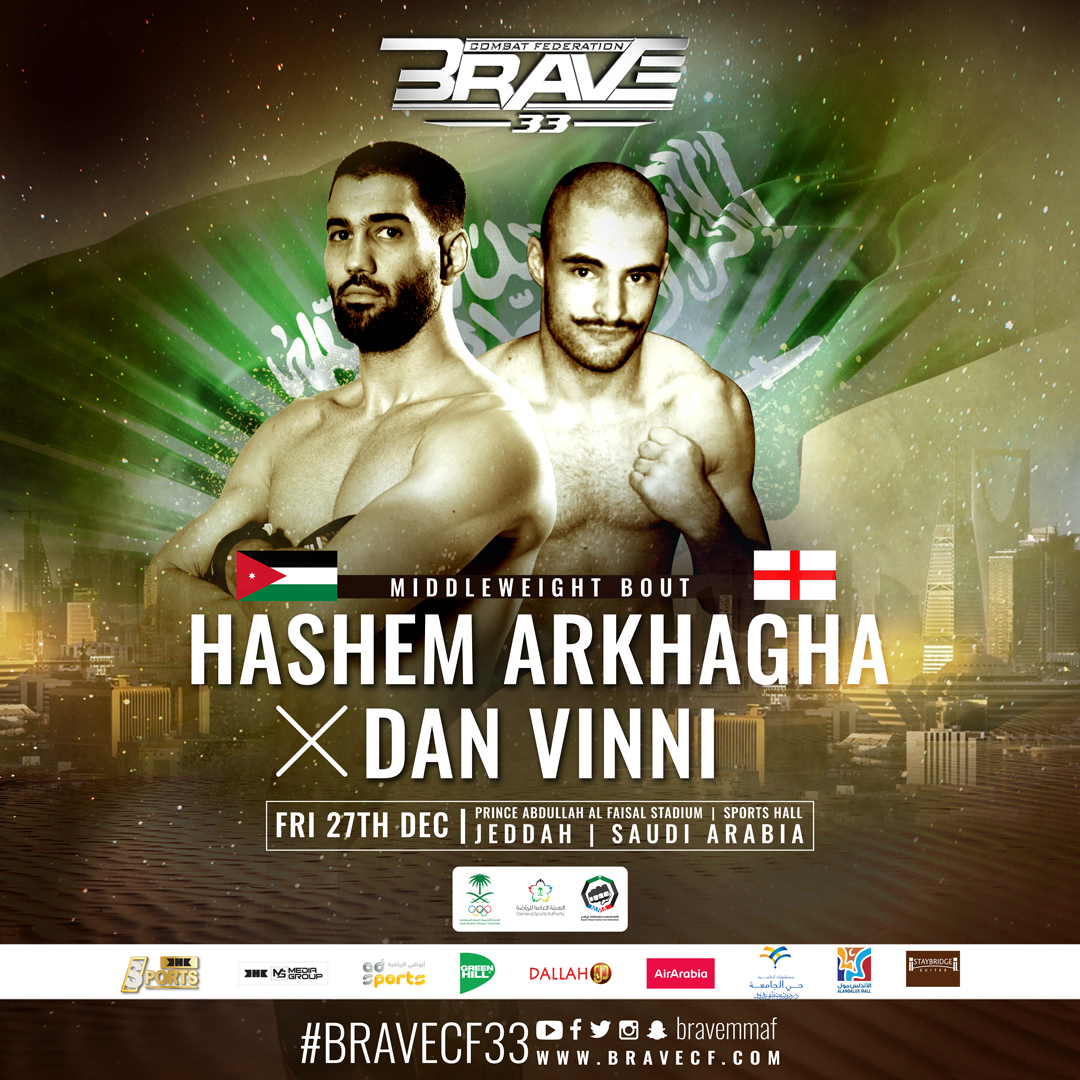 Arab MMA legend Hashem Arkhagha returns to action at BRAVE CF 33 - Jordan