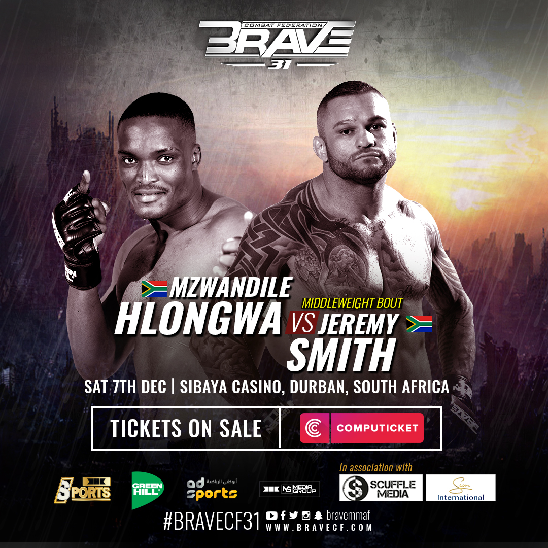 From idol to rival: Hlongwa to fulfill dream of fighting Smith at BRAVE CF 31 - BRAVE CF 31
