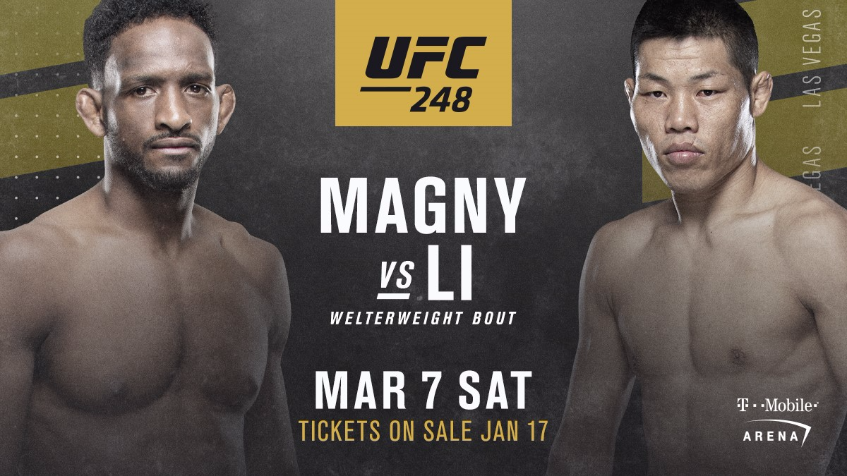 NEIL MAGNY VERSUS LI JINGLIANG ADDED TO THE CARD -