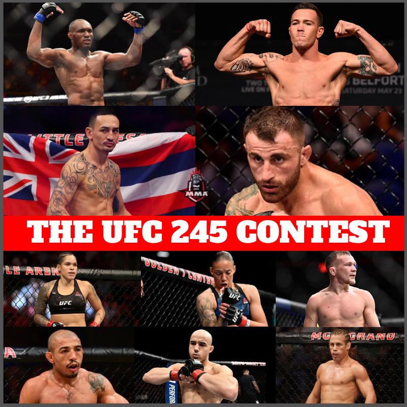 THE UFC 245 CONTEST - UFC 245